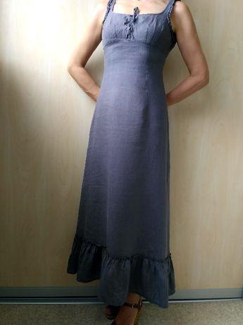 Сексуальное льняное платье-сарафан лён, бренд Bardoff, р. 36