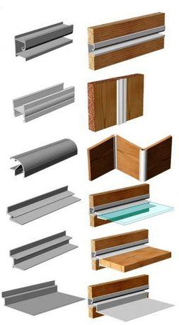 Алюминиевый профиль для мебели/торгового оборудования/перегородок