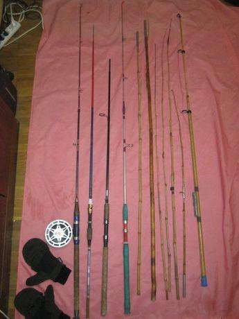 Набор рыболова (удочки, спиннинги и многое другое).