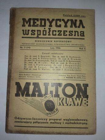 Medycyna współczesna nr 2(14) Rok II 1936