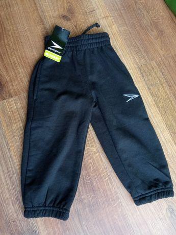NOWE ocieplane spodnie na polarku rozmiar 98