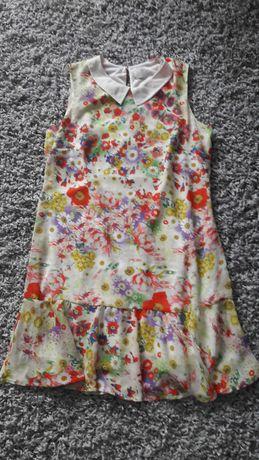 Sukienka kolnierzyk mgielka roz 36