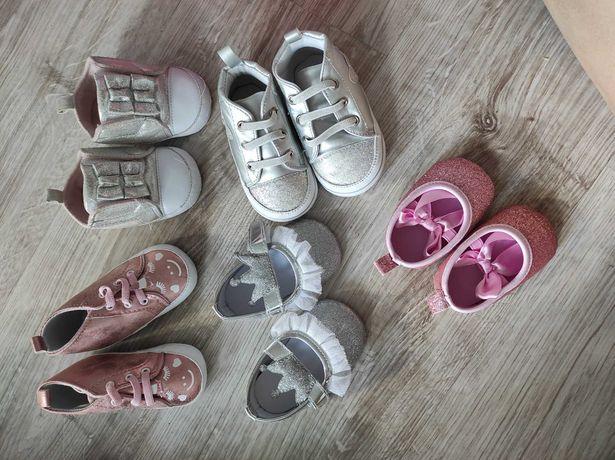 Zestaw bucików niechodkow dla dziewczynki