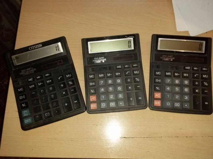 Калькуляторы 12-разрядные 3 шт. БУ Буча - изображение 1