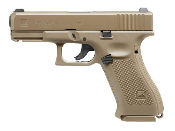 Pistolet wiatrówka Glock 19X 4,5 mm coyote BB CO2