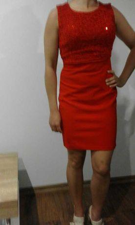 Sukienka czerwona m l