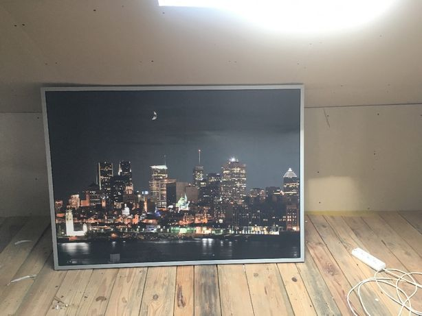 Sprzedam obraz panorama miasta nocą