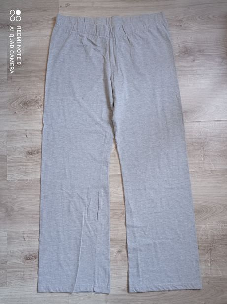 Szare szerokie spodnie dresowe dresy duży rozmiar 52/54