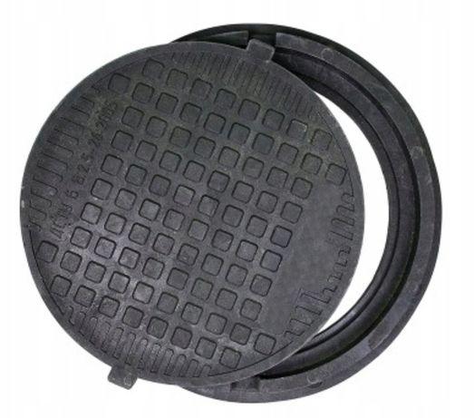 Właz pokrywa studnia rura fi 600 A15 SOLIDNY