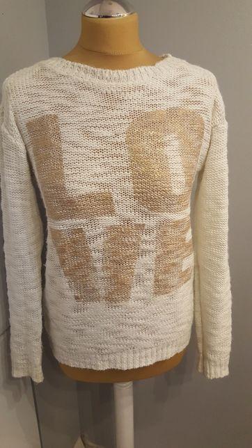 Złoto kremowy sweter atmosphere xs