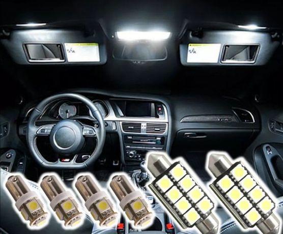 Kit luzes interiores led brancos audi a3 8l a3 8P 8pa a4 b6 b7 a6 a8