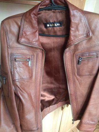 Куртка/косуха кожаная коричневая