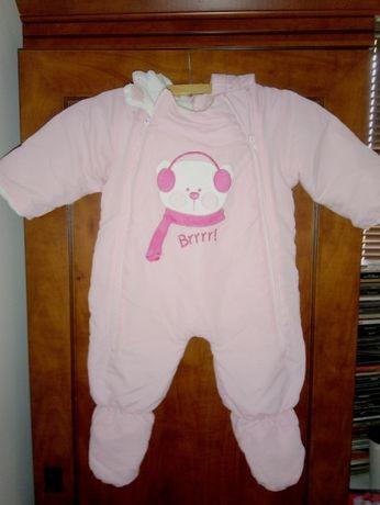 Kombinezon zimowy niemowlęcy dziewczynka 6-9 M 68