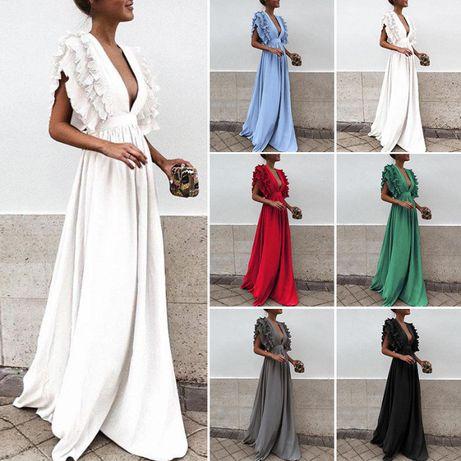 Vestido folho Preto XL/Vermelho XL/Branco XL