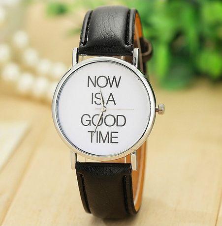 R0168 Relógio Now Is A Good Time Bracelete em Pele Stock