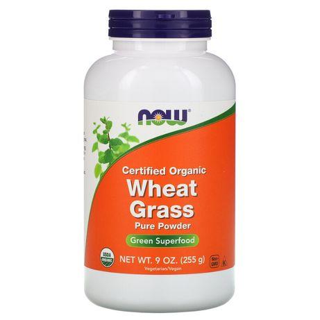 Витграсс органический США Now Foods, порошок из ростков пшеницы