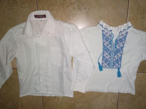 Вишиванка і біла сорочка на 2-4 роки