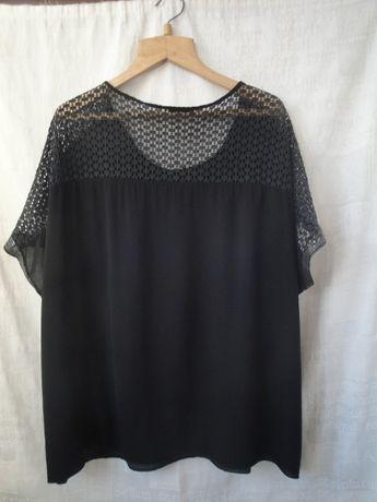Освобождаю шкафы. Черная блузка большого размера. Италия.