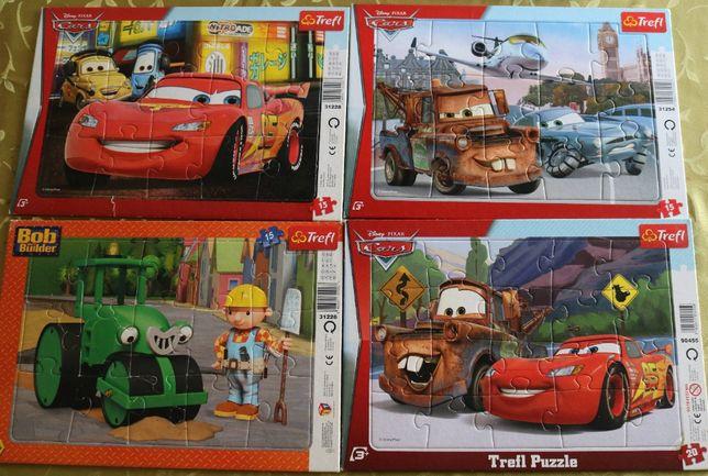 Puzzle Trefl 13el, 30el, Auta, Bob Budowniczy, Kubus, kosmos, samoloty
