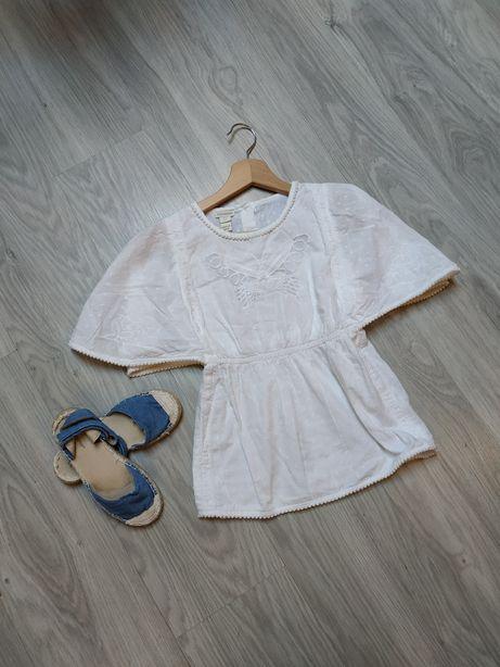 Monsoon bluzka bawełniana boho dziewczęca letnia bluzeczka 128-134