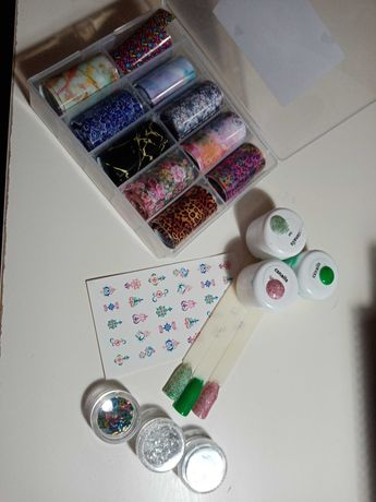 Conjunto nail art gel/acrilico
