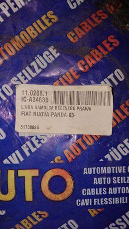 Трос ручного тормоза задний правый Fiat Panda