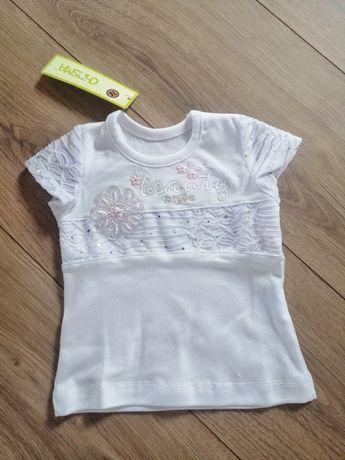 biała bluzeczka dla małej dziewczynki