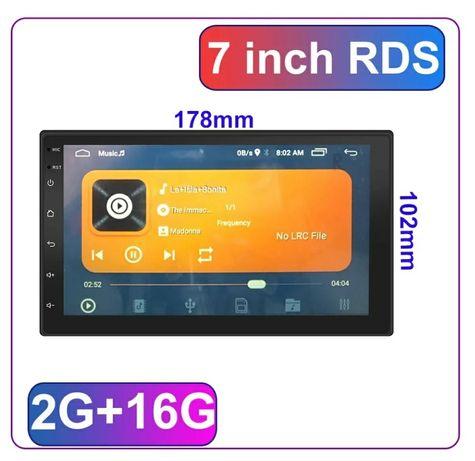 Radio 2 Din android 10+2 GB RAM+RDS+GPS+kit mãos livres
