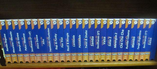 Colecção em 26 cassetes VHS, Curso de Dançar ORBV FABBRI