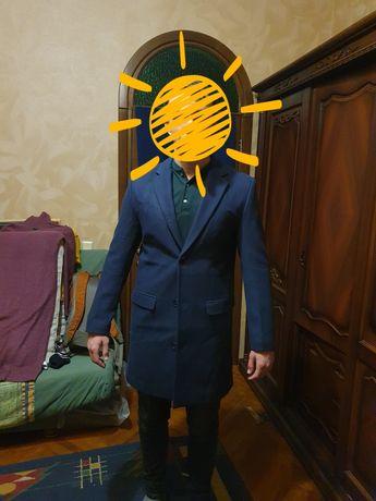 Чоловіче синє пальто Piazza Italia (50р)