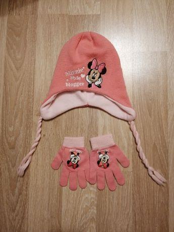 Komplet czapka i rekawiczki Minnie r. 54