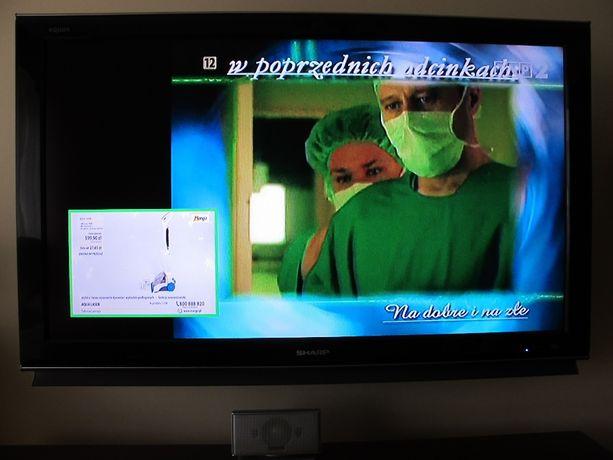 Telewizor SHARP AQUOS LCD 46 cala, dysk twardy wbudowany