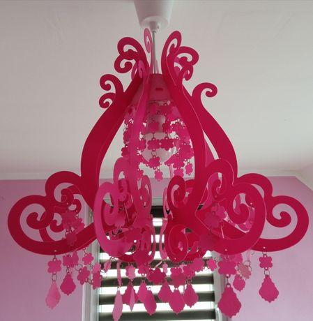 Lampa wisząca różowa E27