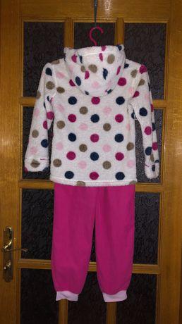 Пушистый зимний спортивный костюм Травка девочке 8-9 лет