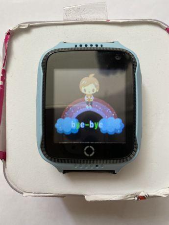 Детские телефон-часы с GPS трекером GOGPS ME K12 Синие
