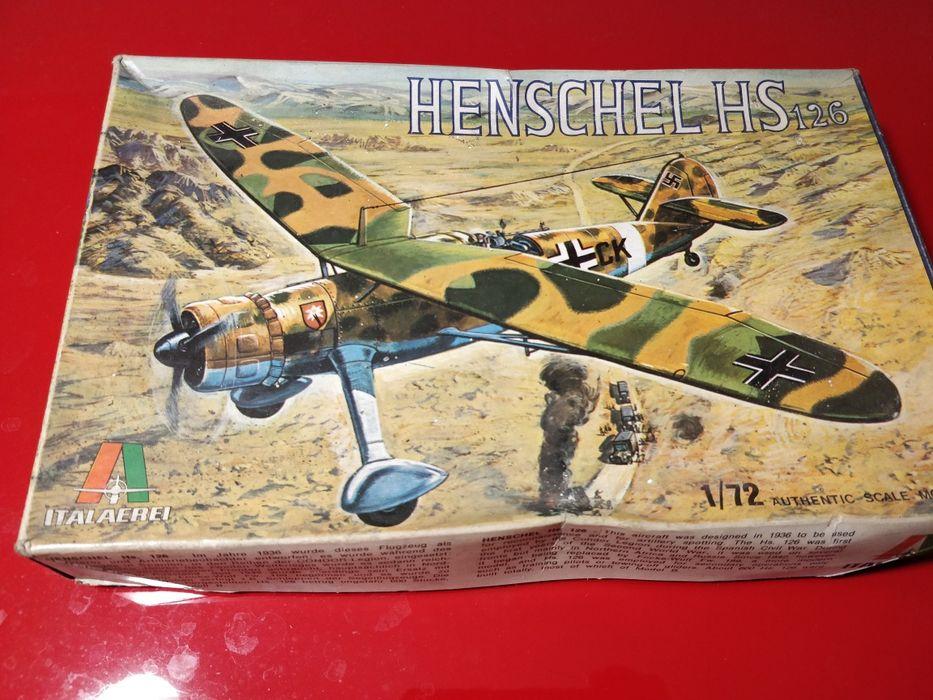 Miniatura Avião Henschel 126 1:72 Santo António dos Olivais - imagem 1