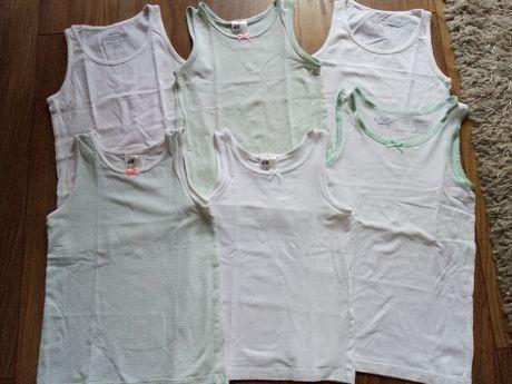 koszulki dziewczęce 122/128 H&M