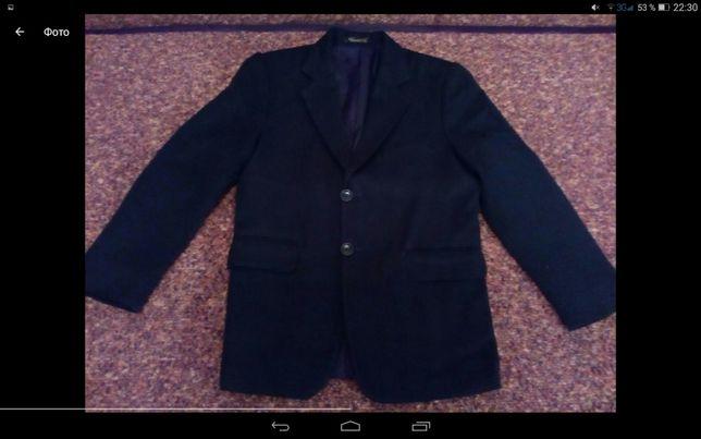 Пиджак для мальчика синий размер 32 (128 см)