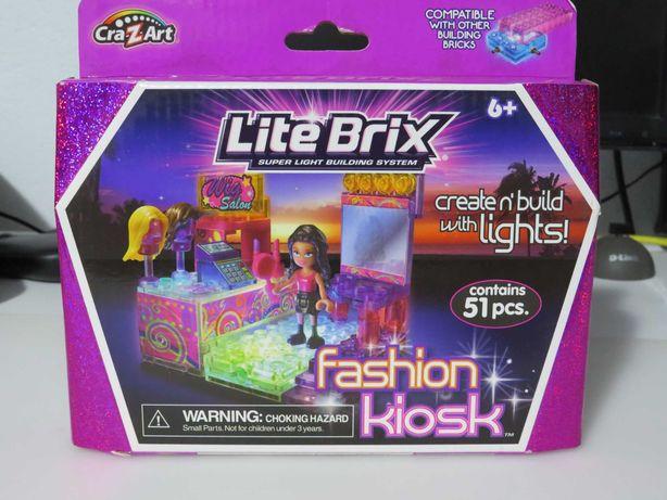 Lite Brix Fashion Kiosk Salao de Beleza (Estilo Lego com Leds) NOVO
