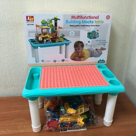 Игровой столик с Конструктором Лего Стол для рисования песка и воды