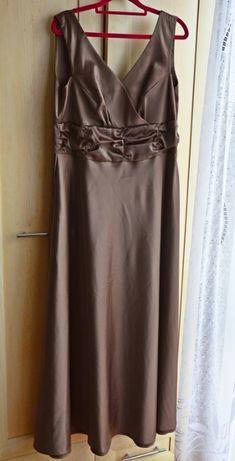 Złota sukienka maxi! 44