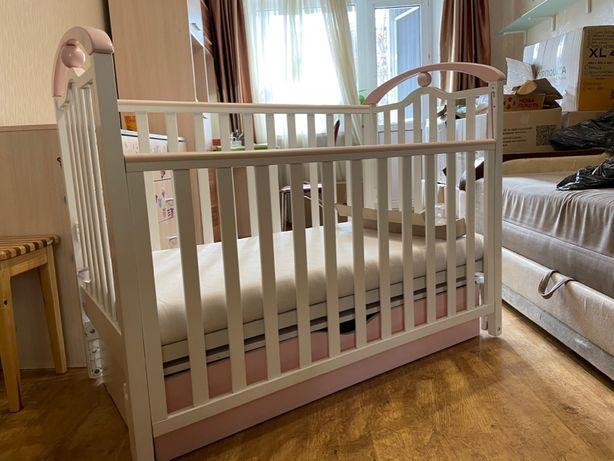 Продам детскую кроватку Верес ЛД5 с матрасом Верес Latex Lux