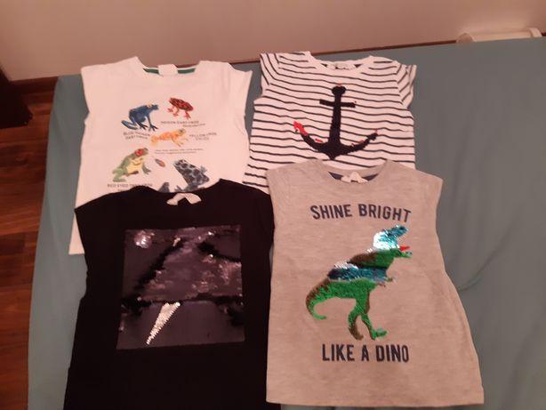 Zestaw t-shirtow z aplikacjami H&M