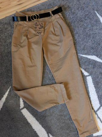 Nowe spodnie carmelowe S