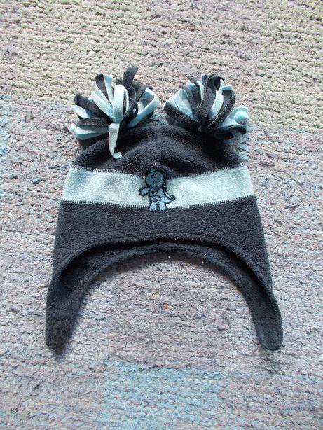 Polarowa czapka zimowa dziecięca obwód 53 cm