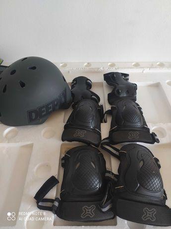 Conjunto proteção skate para criança