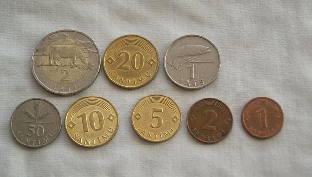zestaw monet Łotwa