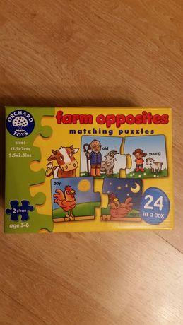 Puzzle 24 szt dla dzieci 3-6 lar farma