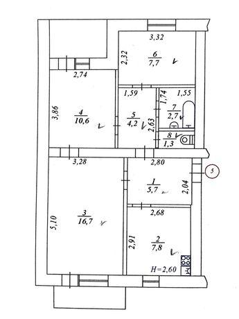 Продам трикімнатну квартиру (Богдана Хмельницького)