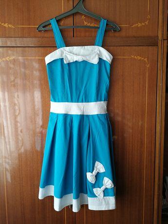 Легкое летние платье XS